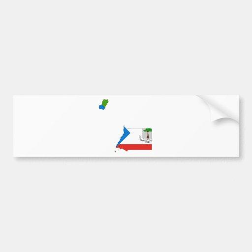 Equatorial Guinea Flag Map GQ Bumper Sticker