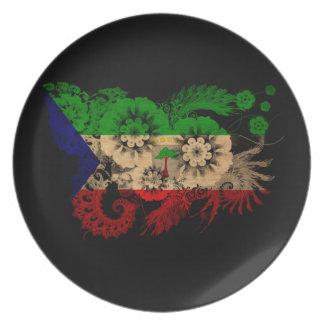 Equatorial Guinea Flag Melamine Plate