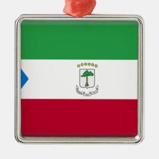 Equatorial Guinea Flag Metal Ornament