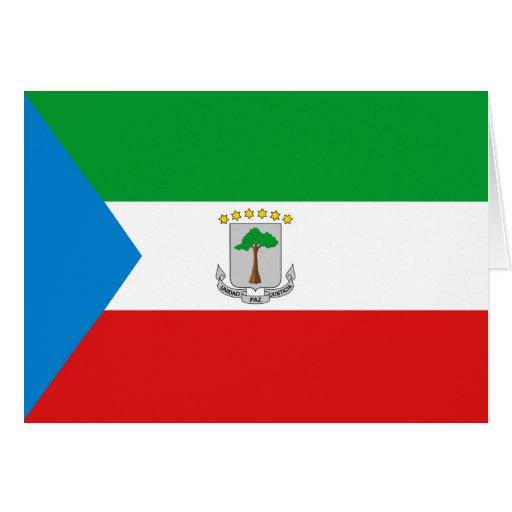 Equatorial Guinea Flag Notecard