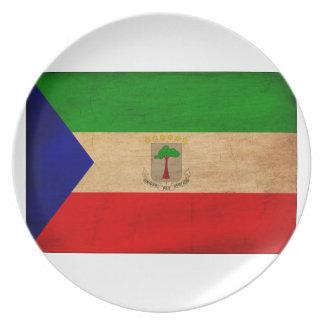 Equatorial Guinea Flag Plate