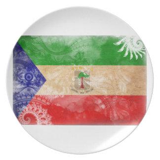 Equatorial Guinea Flag Dinner Plate