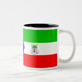 Equatorial Guinea Flag Two-Tone Coffee Mug