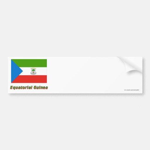 Equatorial Guinea Flag with Name Bumper Stickers