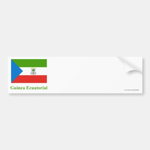 Equatorial Guinea Flag with Name in Spanish Bumper Stickers