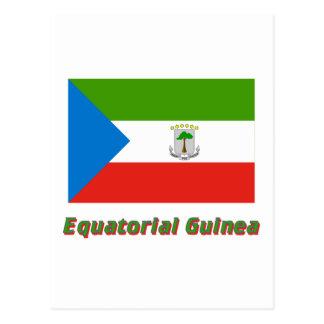 Equatorial Guinea Flag with Name Postcard