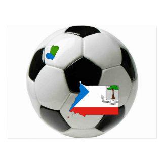 Equatorial Guinea football soccer Postcard