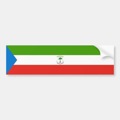 Equatorial Guinea/Guinean Flag Bumper Sticker
