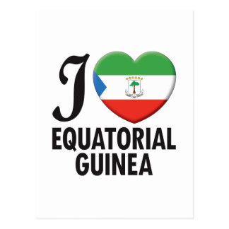 Equatorial Guinea Love Postcard