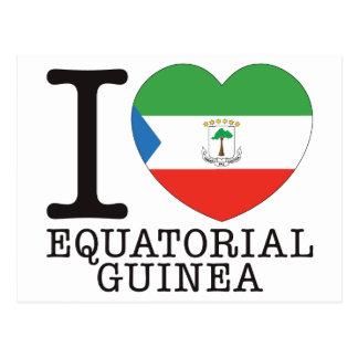 Equatorial Guinea Love v2 Postcard