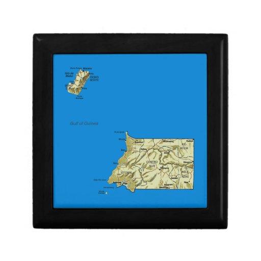 Equatorial Guinea Map Gift Box