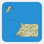Equatorial Guinea Map Sticker