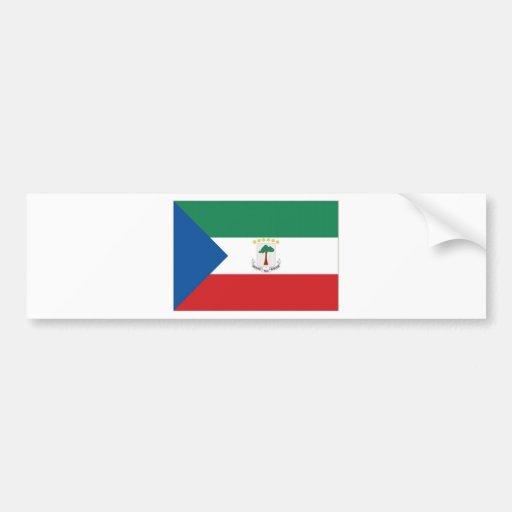 Equatorial Guinea National  Flag Bumper Sticker