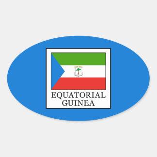 Equatorial Guinea Oval Sticker