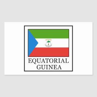 Equatorial Guinea Rectangular Sticker