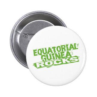 Equatorial Guinea Rocks Pinback Button
