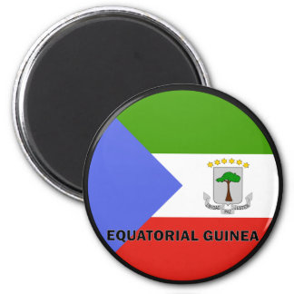 Equatorial Guinea Roundel quality Flag 2 Inch Round Magnet
