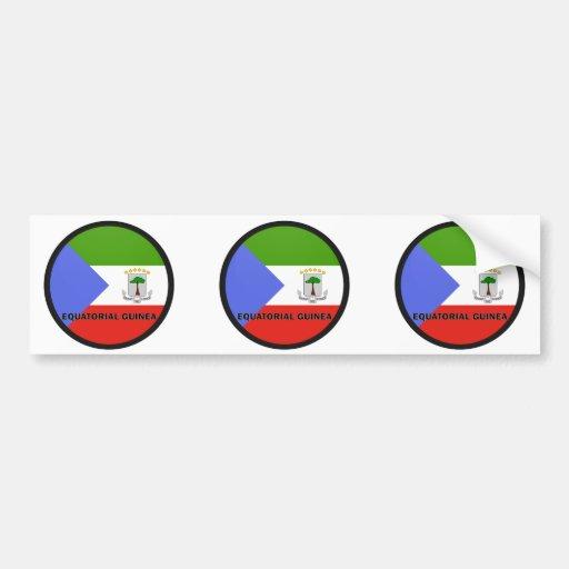 Equatorial Guinea Roundel quality Flag Bumper Stickers
