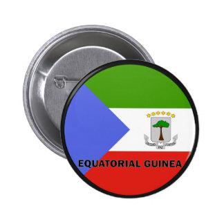 Equatorial Guinea Roundel quality Flag Button