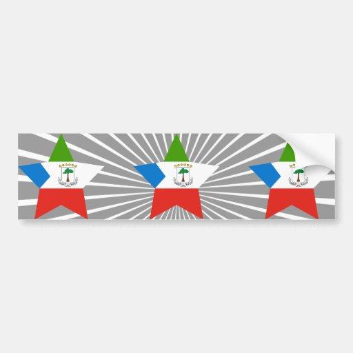 Equatorial+Guinea Star Bumper Sticker