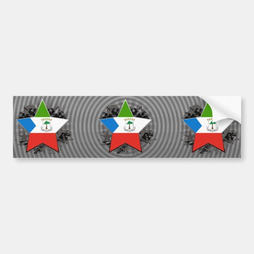 Equatorial Guinea Star Bumper Sticker