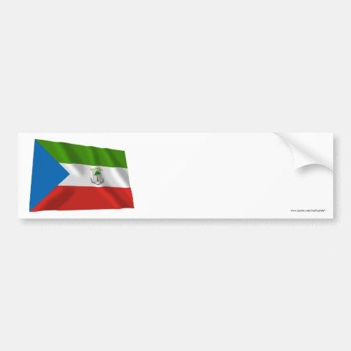 Equatorial Guinea Waving Flag Bumper Stickers