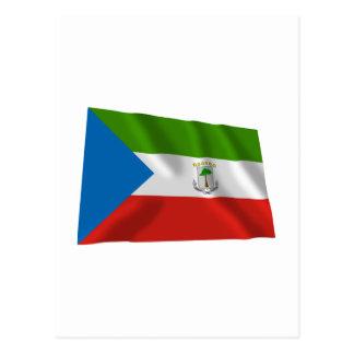 Equatorial Guinea Waving Flag Postcard