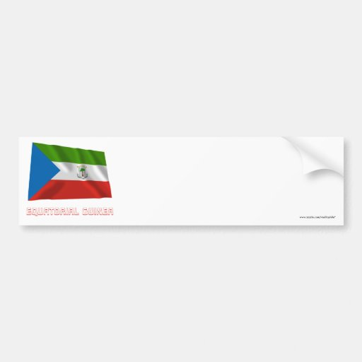 Equatorial Guinea Waving Flag with Name Bumper Stickers