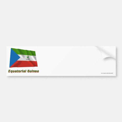 Equatorial Guinea Waving Flag with Name Bumper Sticker