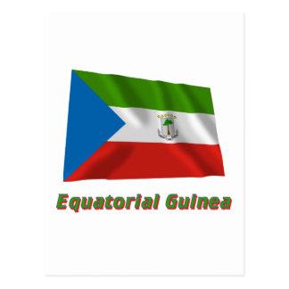 Equatorial Guinea Waving Flag with Name Postcard