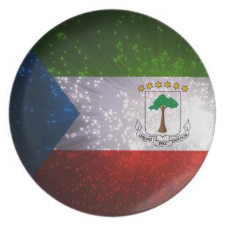 Equatorial Guinean Flag Melamine Plate