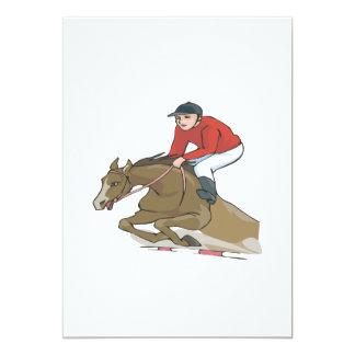 """Equestrian 2 invitación 5"""" x 7"""""""