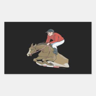 Equestrian 2 pegatina rectangular