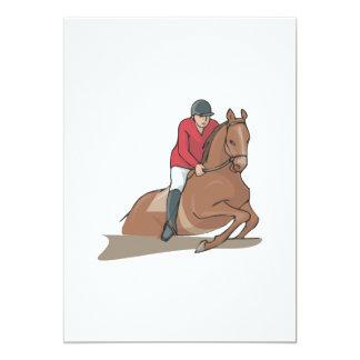 """Equestrian 3 invitación 5"""" x 7"""""""