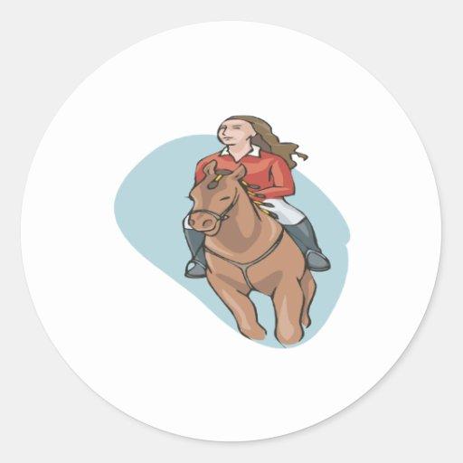 Equestrian 4 pegatina