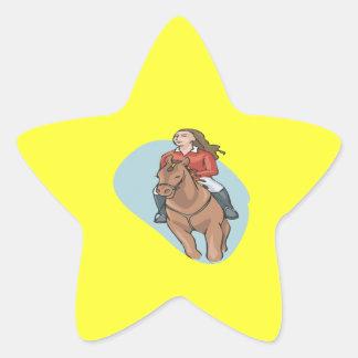 Equestrian 4 star sticker