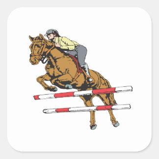 Equestrian 5 pegatina cuadrada
