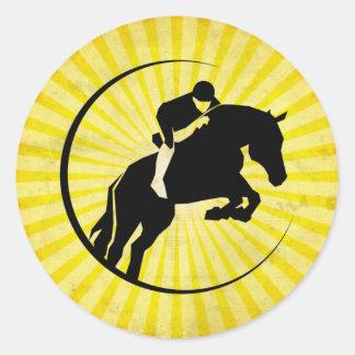 Equestrian amarillo pegatina