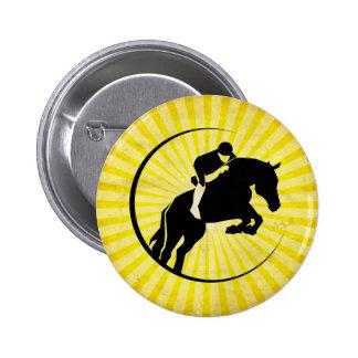 Equestrian amarillo pin redondo 5 cm