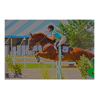 Equestrian Art-Horse Show Jumping Poster