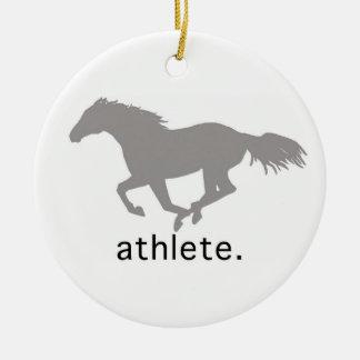 Equestrian Athlete Ceramic Ornament