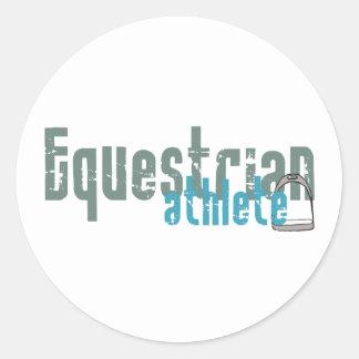 Equestrian Athlete Classic Round Sticker