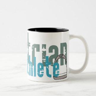 Equestrian Athlete Two-Tone Coffee Mug