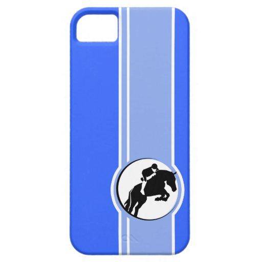Equestrian azul iPhone 5 protectores