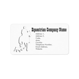 Equestrian Business Theme Collection Label