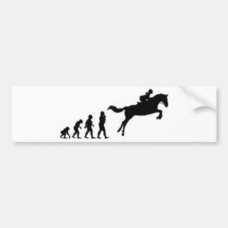 Equestrian Car Bumper Sticker