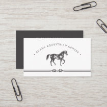 Equestrian Center | Stables | Riding Instructor Business Card