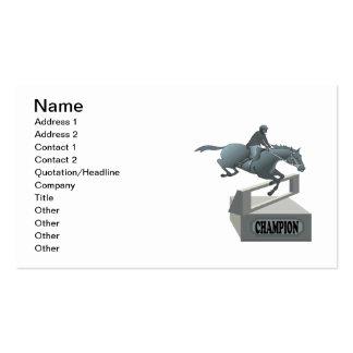 Equestrian Champion Business Card