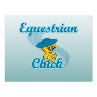 Equestrian Chick #3 Postcard