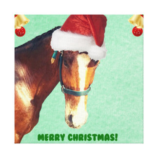 Equestrian Christmas Horse Canvas Print